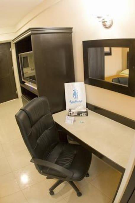 Área de trabajo en habitaciones