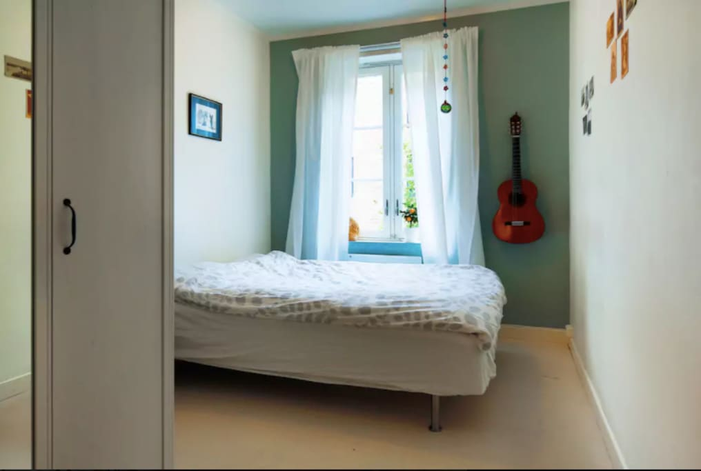 Your bedroom with 140 cm bed.