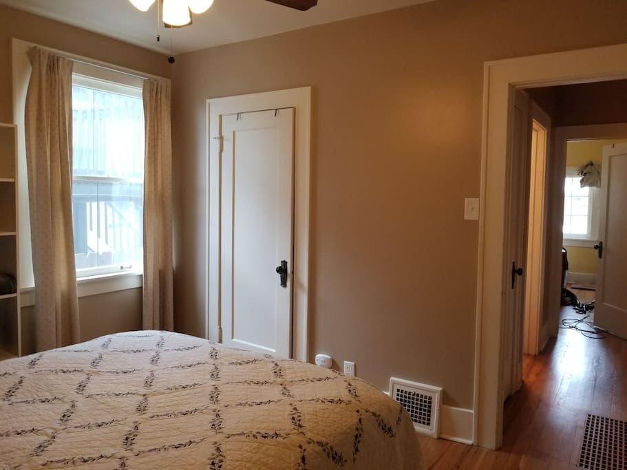 Guest Room - View to hall and shared bathroom