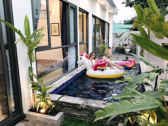 AT6MưaHouse-Private Pool-9mins walk to MyKhe beach