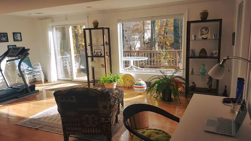 Guest suite near D.C.No kitchen. Min. 3 nights