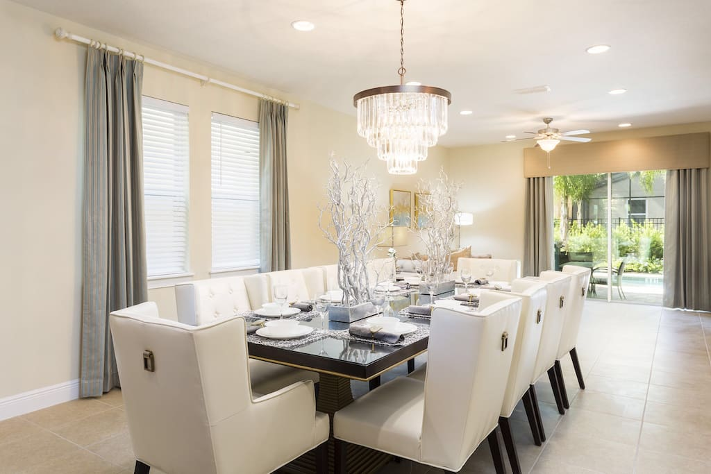 Dining Area which can comfortably seat a family of 10