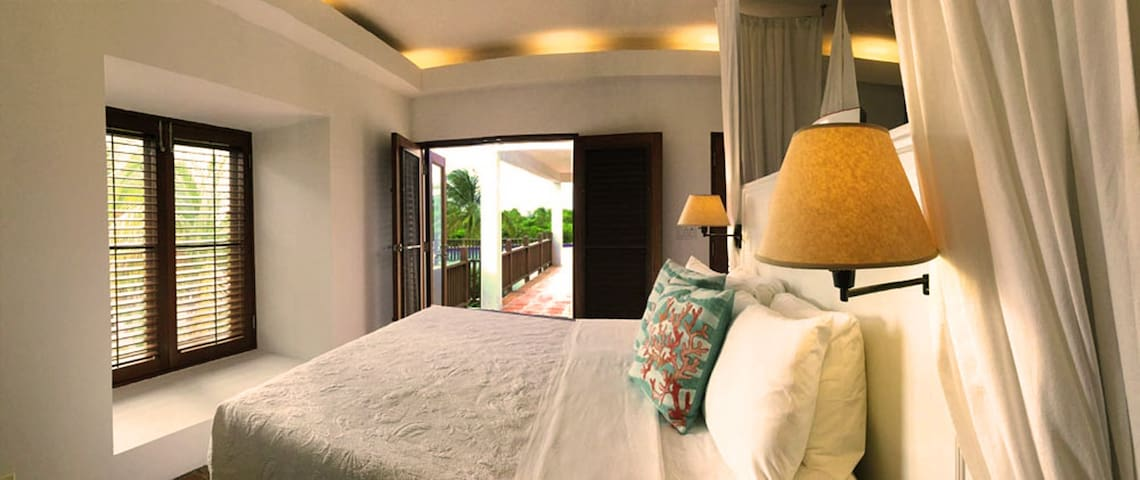 Coconut Palm Villa Poolside Master Bedroom