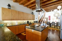 The kitchen is very spacious and perfect for entertaining