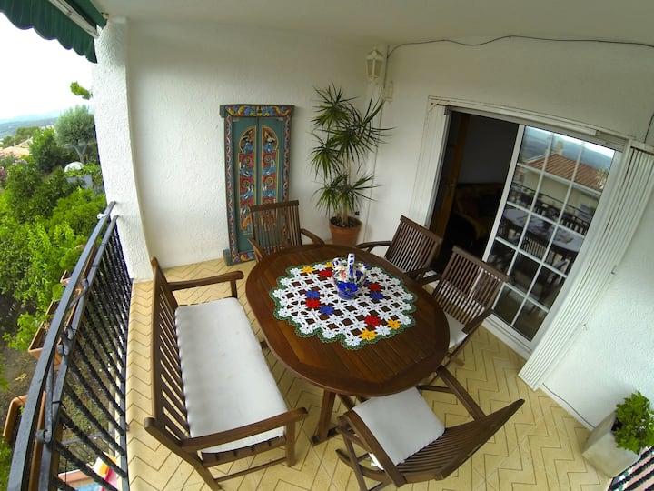 Casa privada, naturaleza. Entre Sitges y Vilanova