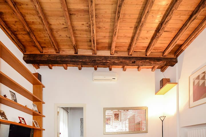 ancient wooden ceiling
