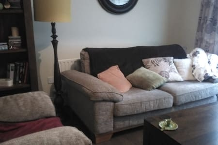 Double bedroom, private bathroom and sitting room - Lackagh - Hus