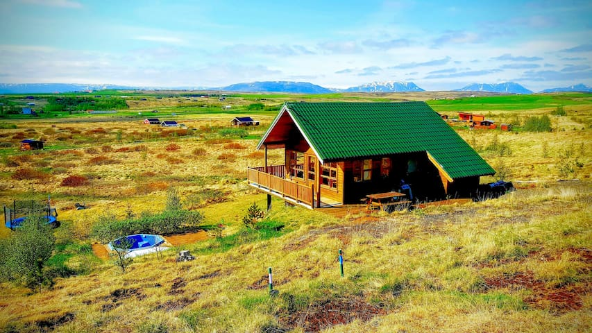 Golden circle beautiful Icelandic house w/ hot tub - Reykholt - Casa
