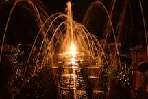 Paronella Park night tour - stunning fountains