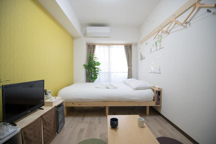 L-201 Near Hiroshima castle, Up to 3 Person.WIFI