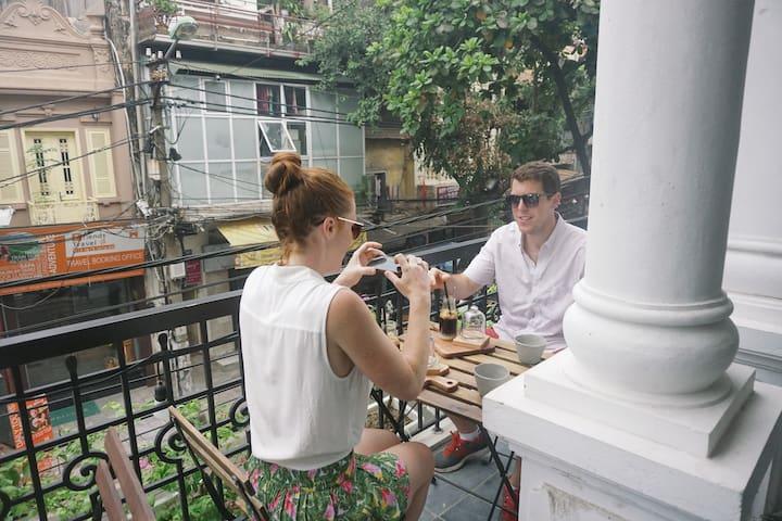 Deluxe balcony room in the centre of Old Quarters - Hanoi - Huvila