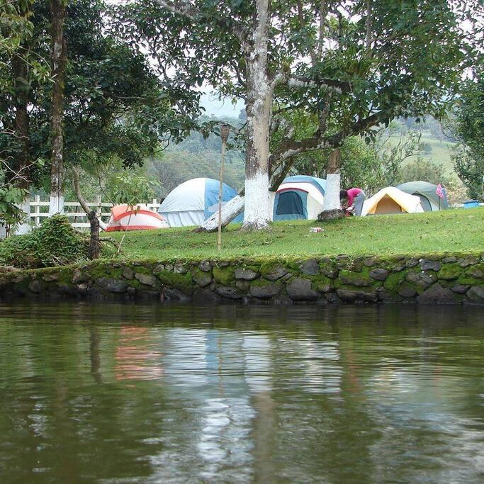 Situada a orillas del Lago de Catemaco está Poza Reyna Camping Area el lugar ideal para convivir con la naturaleza en un ambiente exclusivo y seguro.Disfrutarás de un paraje para convivir con familiares y amigos.