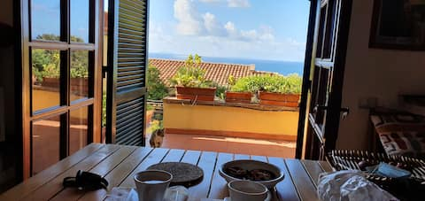 Beautiful seaside villa at the Circeo (Punta Rossa)