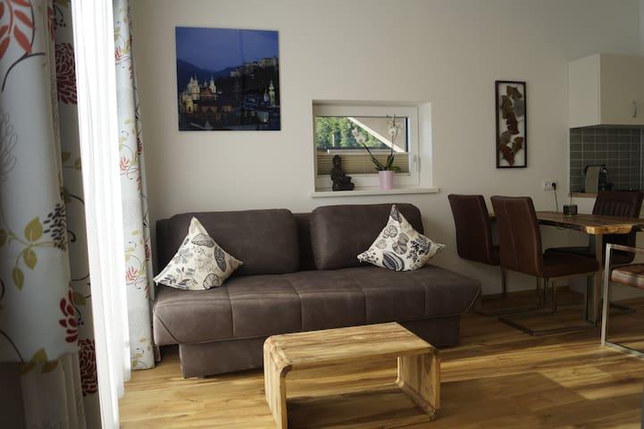 Apartment mit Bergblick in der Nähe von Salzburg
