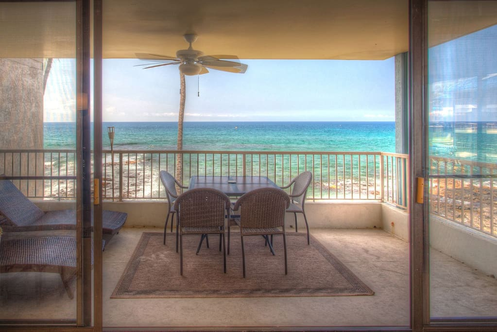 Ocean Front Lanai includes Dining Table & Lounge Chairs