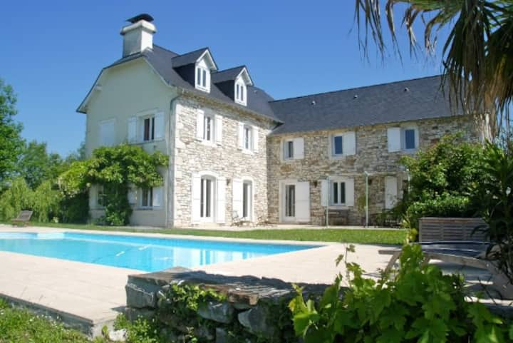 Large French Farmhouse with Mountain views