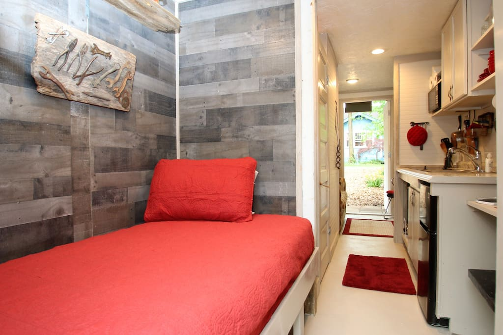 Built-in twin bed