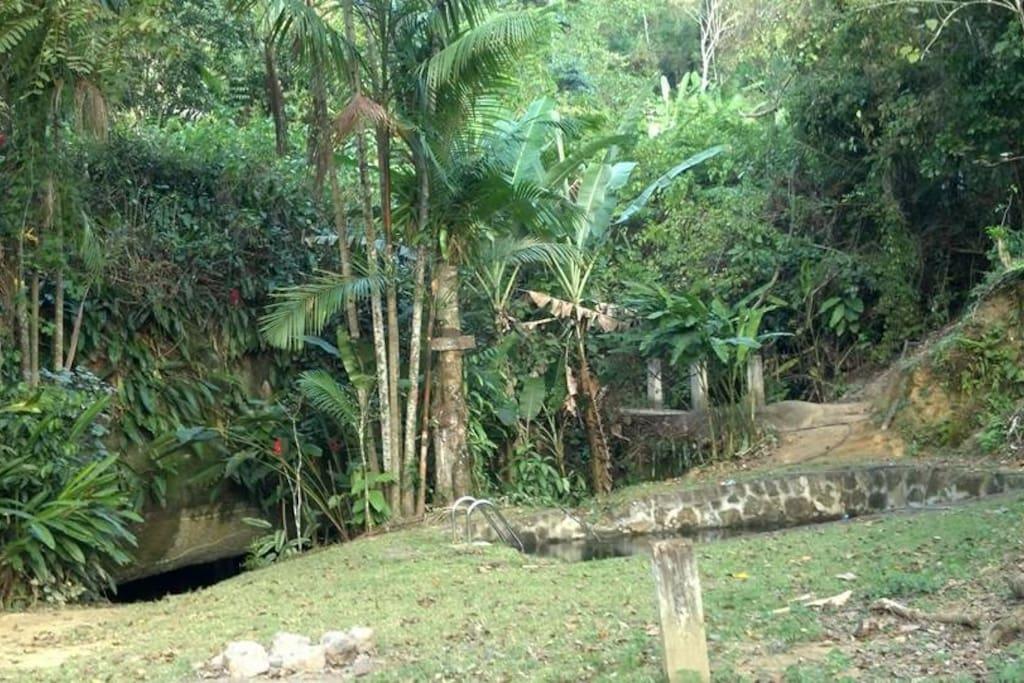 area Piscina entrada da toca
