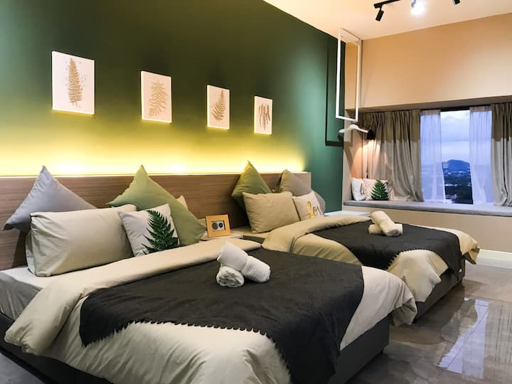 Green City Suites Room for 4pax @ 180° City View