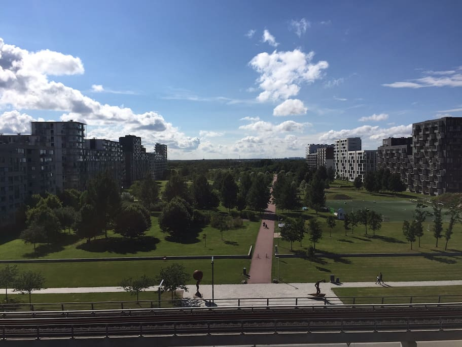View of Ørestad Park