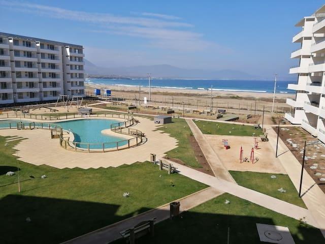 Departamento frente a la playa Los Molles