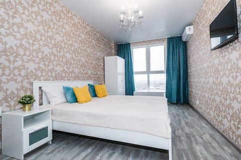Квартира-студия в центре Краснодара на 12 этаже