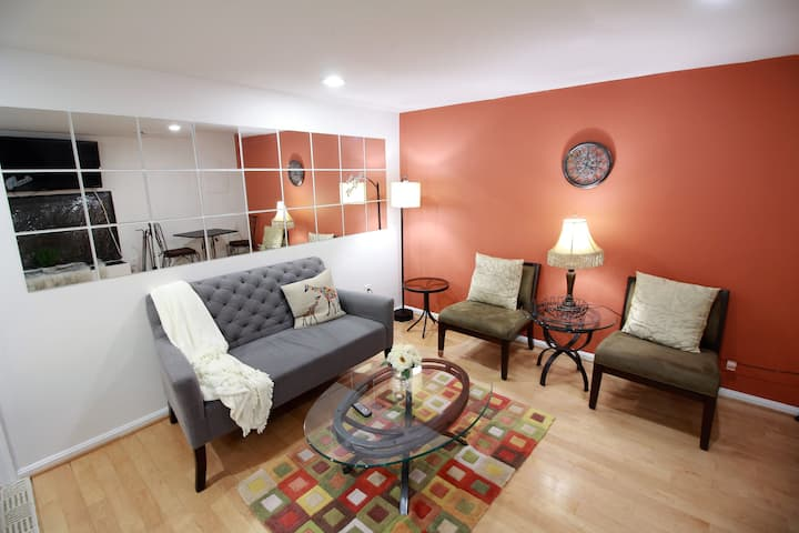 1 Bd Private BSMNT APT 20m DC 5min Dulles 2m Metro