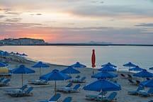 beach in Rethymno 5 km away
