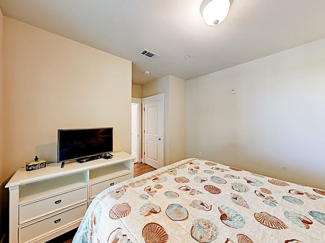 "Enjoy a movie on the 32"" flat-screen TV in the 2nd bedroom."