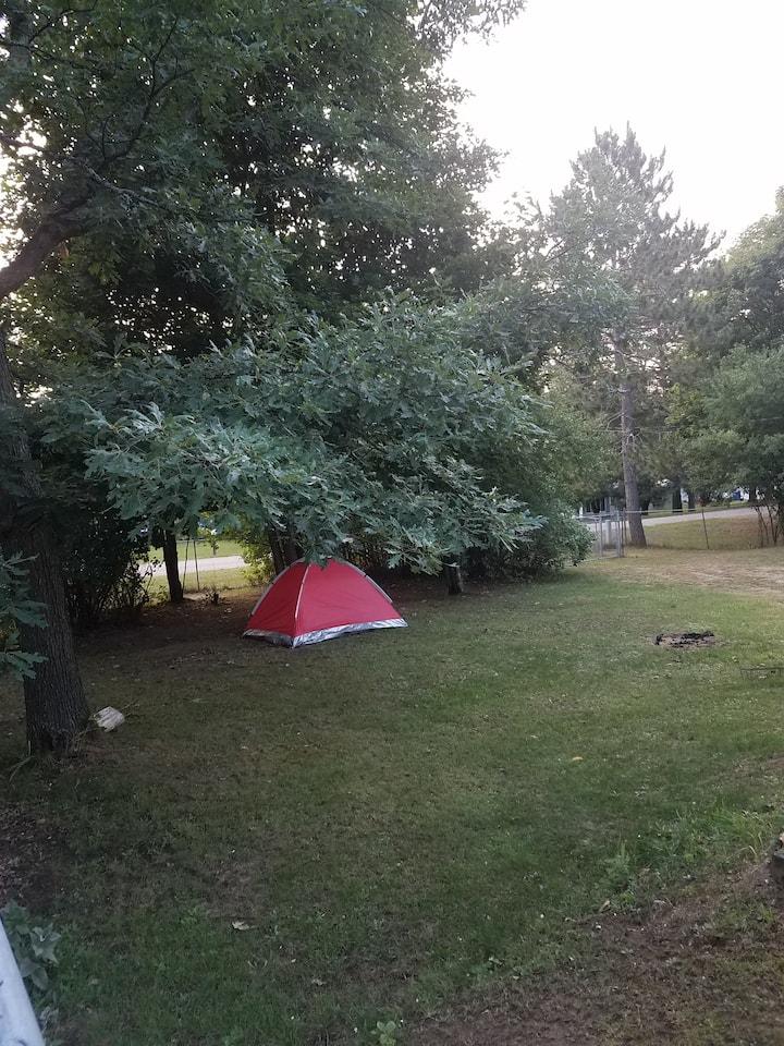 Outdoor tent!  exit 222 St. Helen!