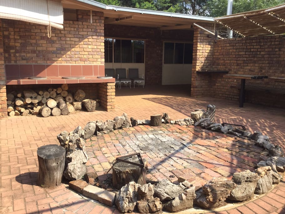 Boma for events. With large fire place and 2 braai areas.