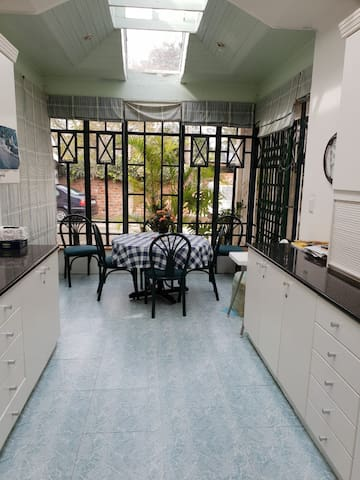 Large kitchen with use of all amenities for use.