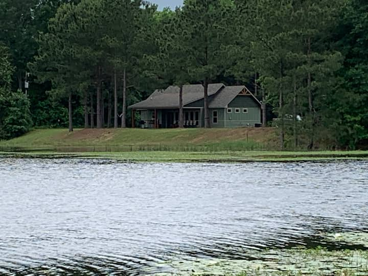 Brown Bear Cottage on a bass-filled private lake.