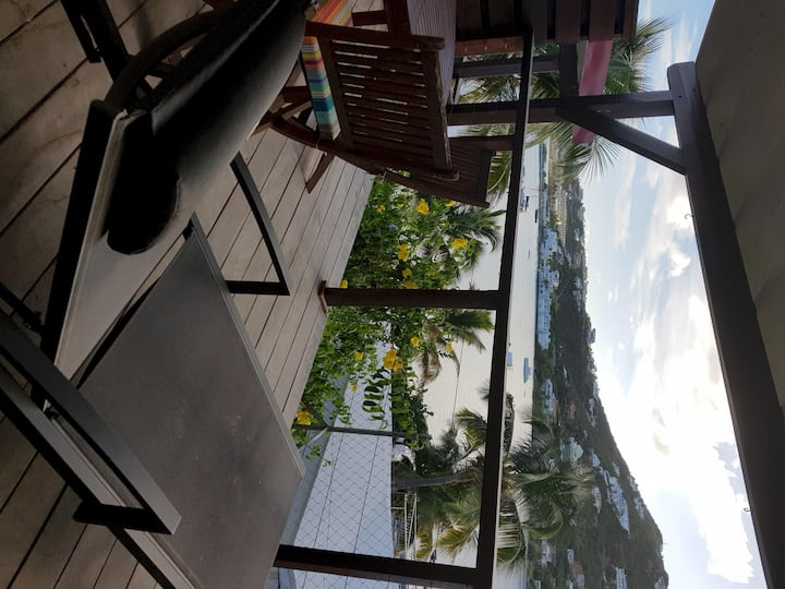 LES BALCONS D'OYSTER POND BUNGALOW N°6 WITH MEZZANNINE ( LOFT) &  TERRACE AT THE MARINA LEVEL