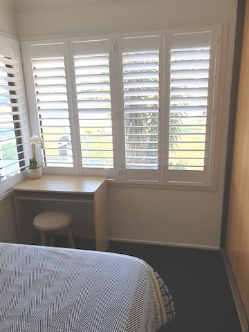 Shutters on your window for your privacy.