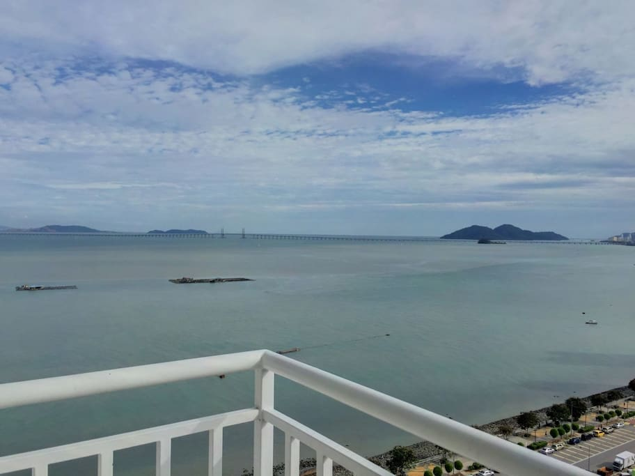 Full sea view from balcony.