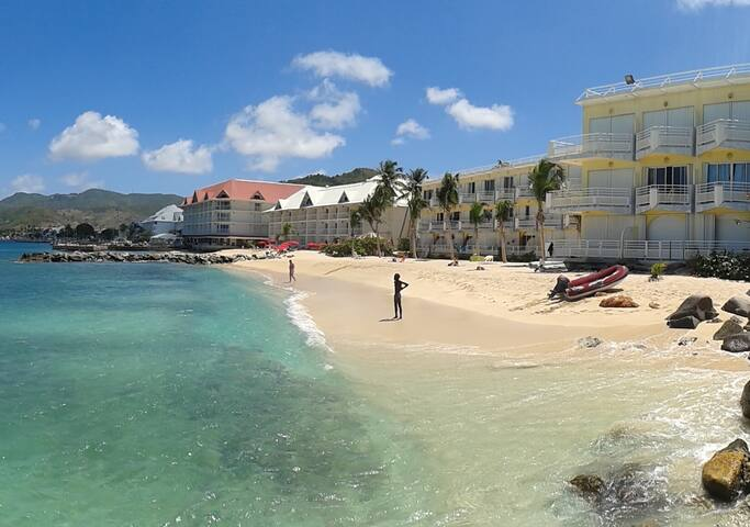 Studio plage privée à Marigot