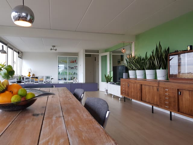 Excellent penthouse, midcentury modern style!