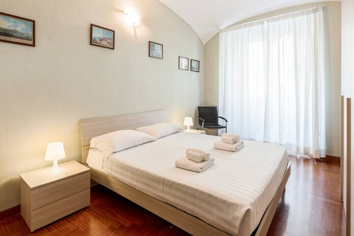 The third Bedroom: the comfortable double bed with soft bed-linen and towels.