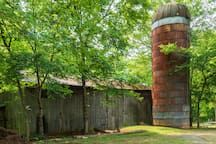 Historic barn and silo on the property