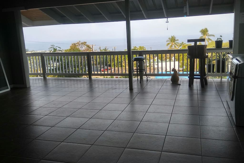 large lanai to watch beautiful sunsets.