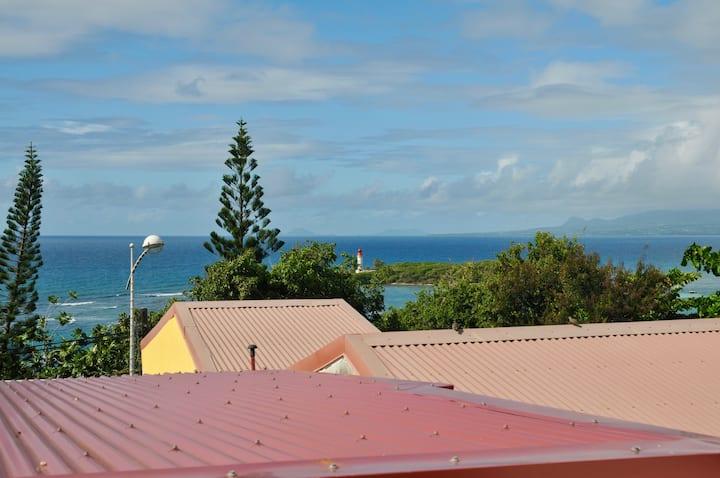 Habitation Marraine vue sur l'îlet du Gosier