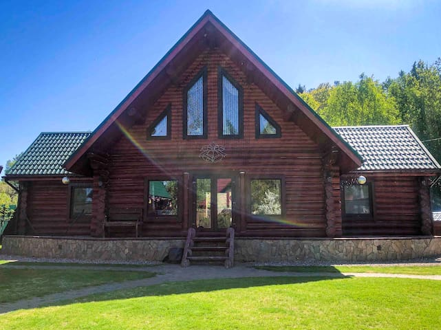 Weekend house in forest (40 km away from Moscow)