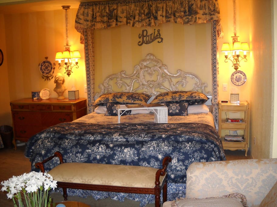 This suite has TWO bedrooms, one KING and one QUEEN & spacious bathroom with whirlpool tub AND shower.