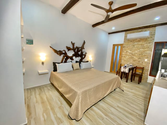 Loft luxury at Casita Maya