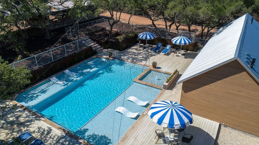 Our pool is cool and inviting. It's also (optionally) heated for when the weather calls for it.