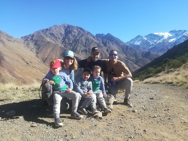 Trekking and excursions in high atlas mountain