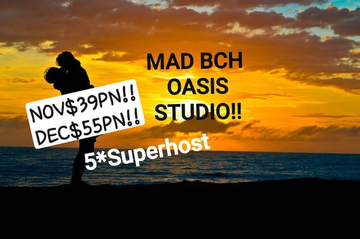 Mad Bch Oasis Studio*NOV$39PN*DEC$55PN