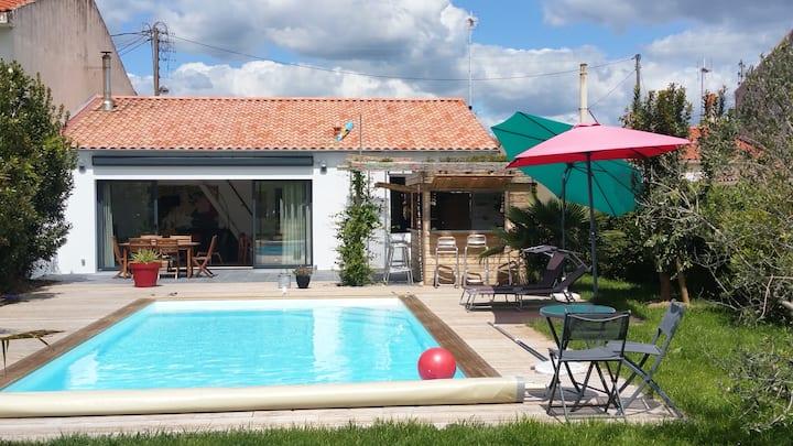Agréable maison avec piscine aux Sables d'Olonne