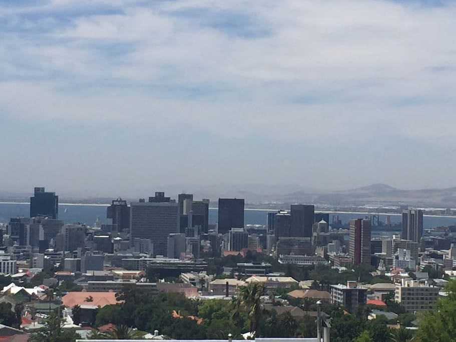 180 degrees panoramic view over Cape Town CBD